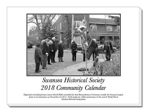 Swansea Historical Society 2018 Calendar