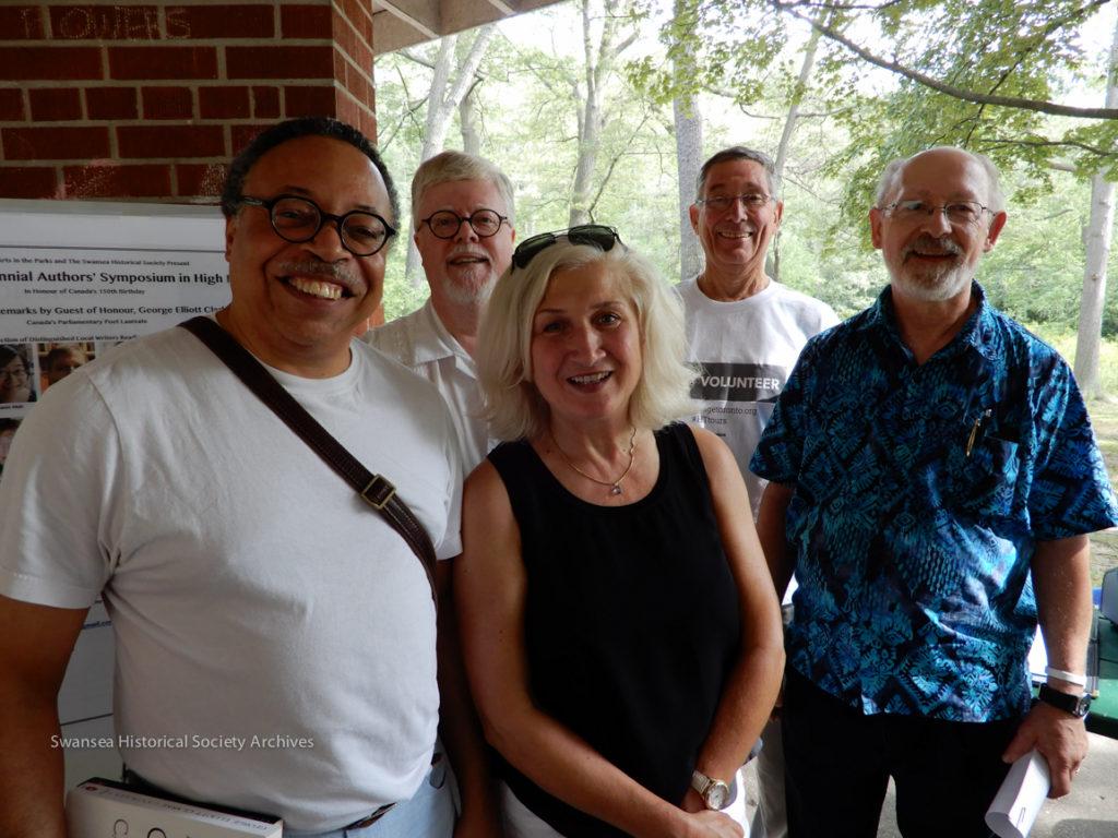 Authors George Elliott Clarke, Bruce Meyer, Bianca Lakoseljac, Bob Roden - Moderator, David DePoe. Photo by Susan Roden