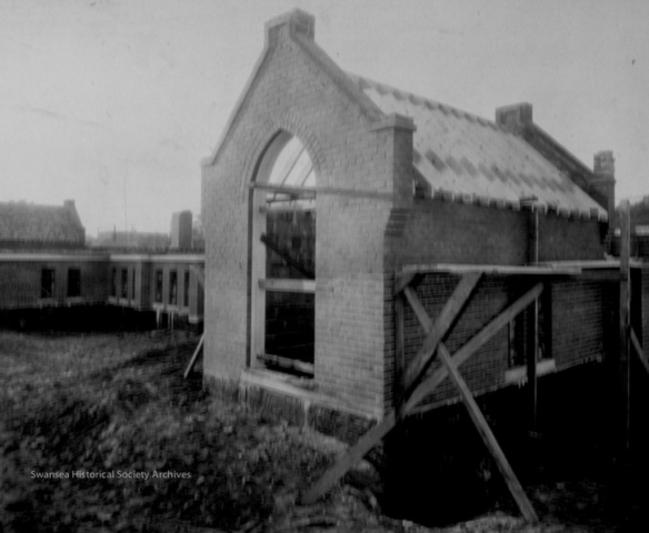 St. Olaves Church at Wndermere and Bloor, under construction in 1926.