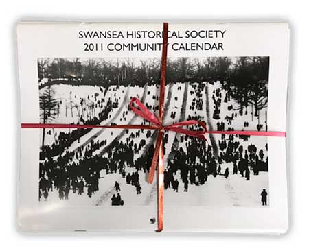 There are still a few copies of the calendars from 2018 and earlier years available for sale at the reduced price of $2.00.  We also have bundles of calendars from a selection of previous years, at the bargain price of $5.00.  Calendars and other SHS publications can be purchased at any of our meetings or over-the-counter at the office of the Swansea Town Hall.